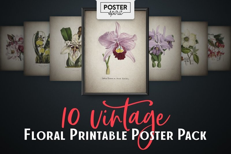10 Vintage Floral Printable Botanical Posters