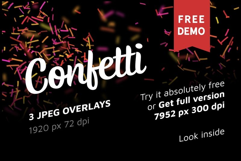 Free Confetti Photo Overlays
