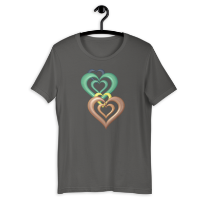 Hearts T-shirt Design 1 for sale