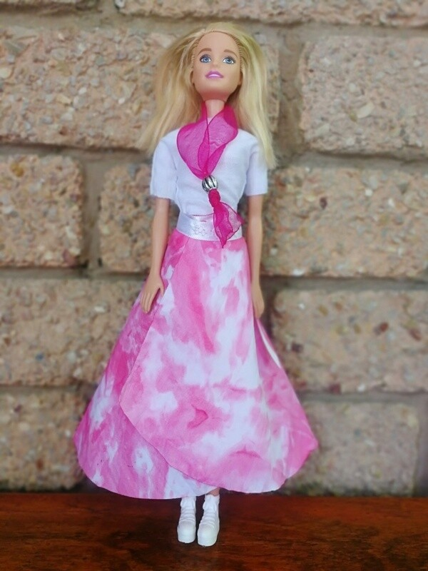Barbie Doll Wrap-Skirt Sewing Pattern