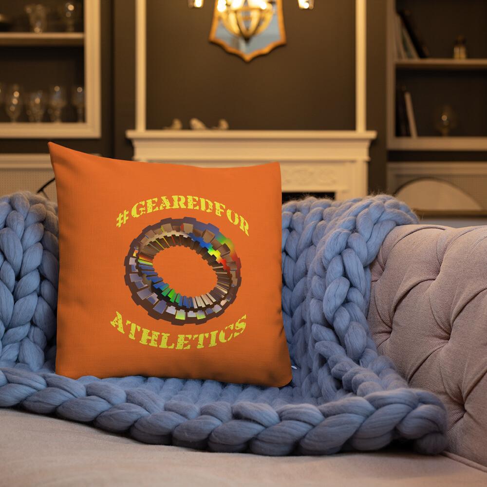 #GearedFor Athletics: Square Premium Pillow