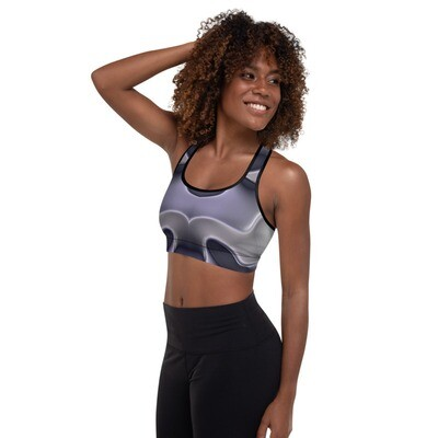 Antique Silver:  Sports Bra, padded