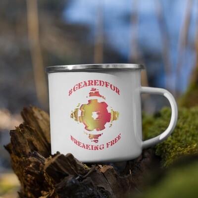 #GearedFor Breaking Free: Coffee Mug, enamel