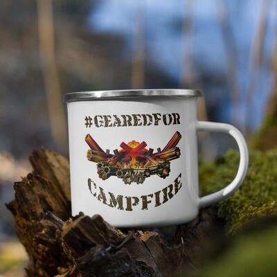 #GearedFor Campfire 1: Coffee Mug, enamel