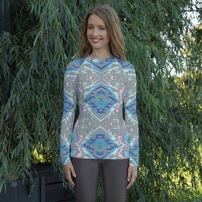 Candy Splatter:  Rashguard for Women