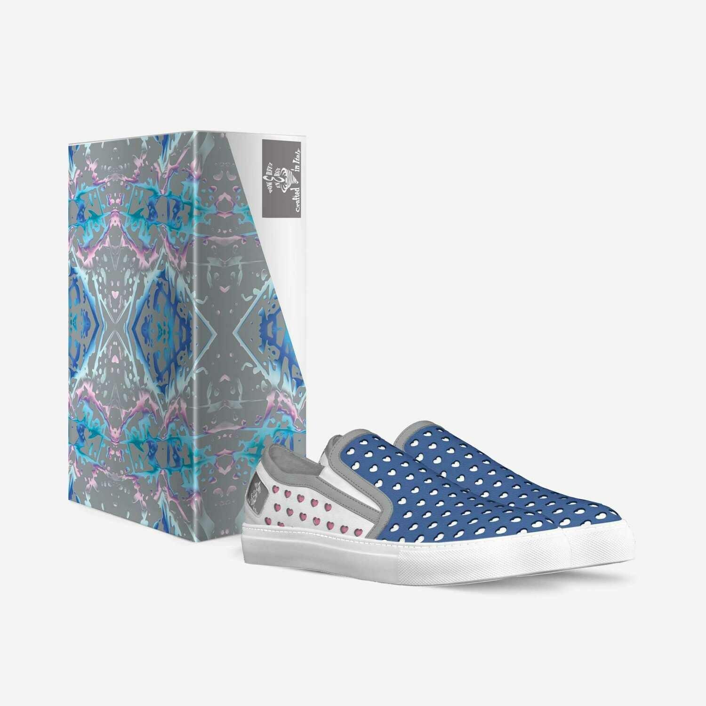 Candy Splatter:  Women's Hearts Slip-on Sneakers: Custom Orders! $239