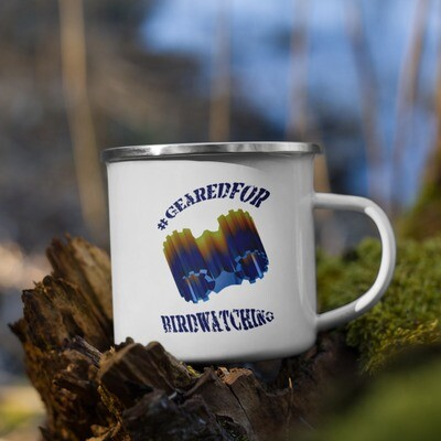 #GearedFor Birdwatching: Coffee Mug, enamel
