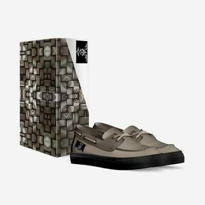 Medieval Knieval:  Unisex Boat Sneakers. Made in Italy. Custom Orders! $179