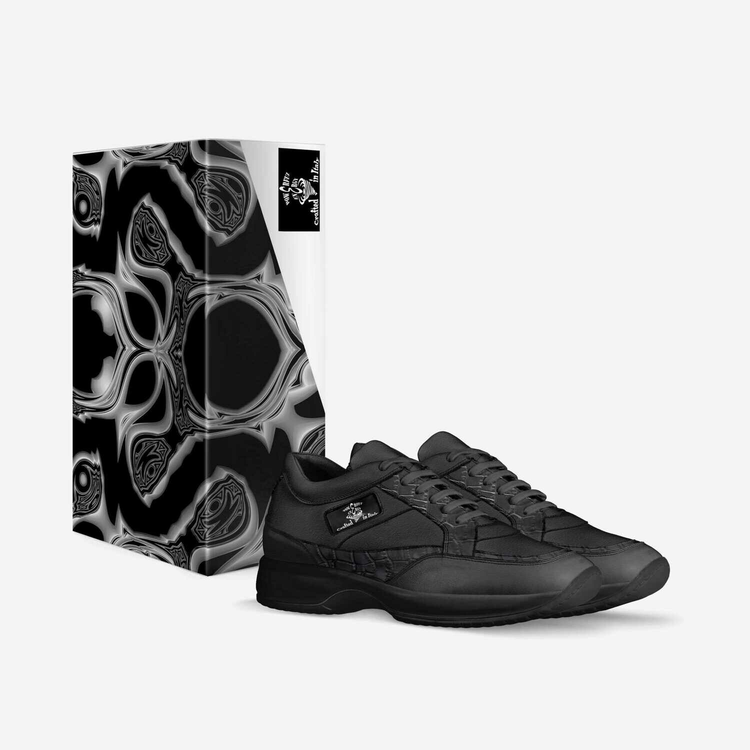 Duality's Masquerade:  Unisex Sneakers. Made in Italy. Custom Orders! $214