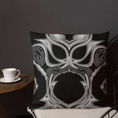 Duality's Masquerade: Square Premium Pillow