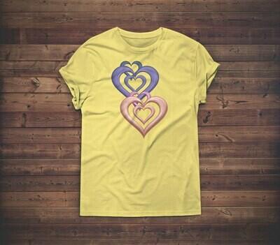 3D Hearts T-shirt Design 1A for sale