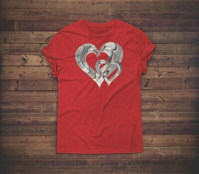 3D Hearts T-shirt Design 2A for sale