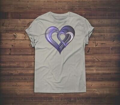 3D Hearts T-shirt Design 2B for sale