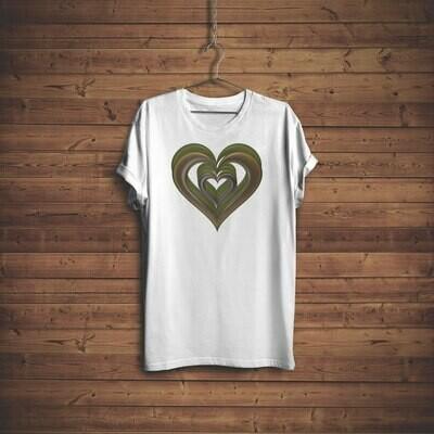3D Hearts T-shirt Design 3B for sale