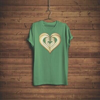 3D Hearts T-shirt Design 3A for sale