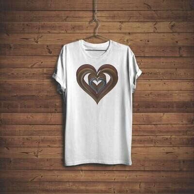 3D Hearts T-shirt Design 3C for sale