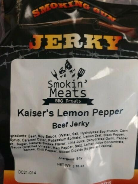 NEW!  Kaiser's Lemon Pepper Beef Jerky