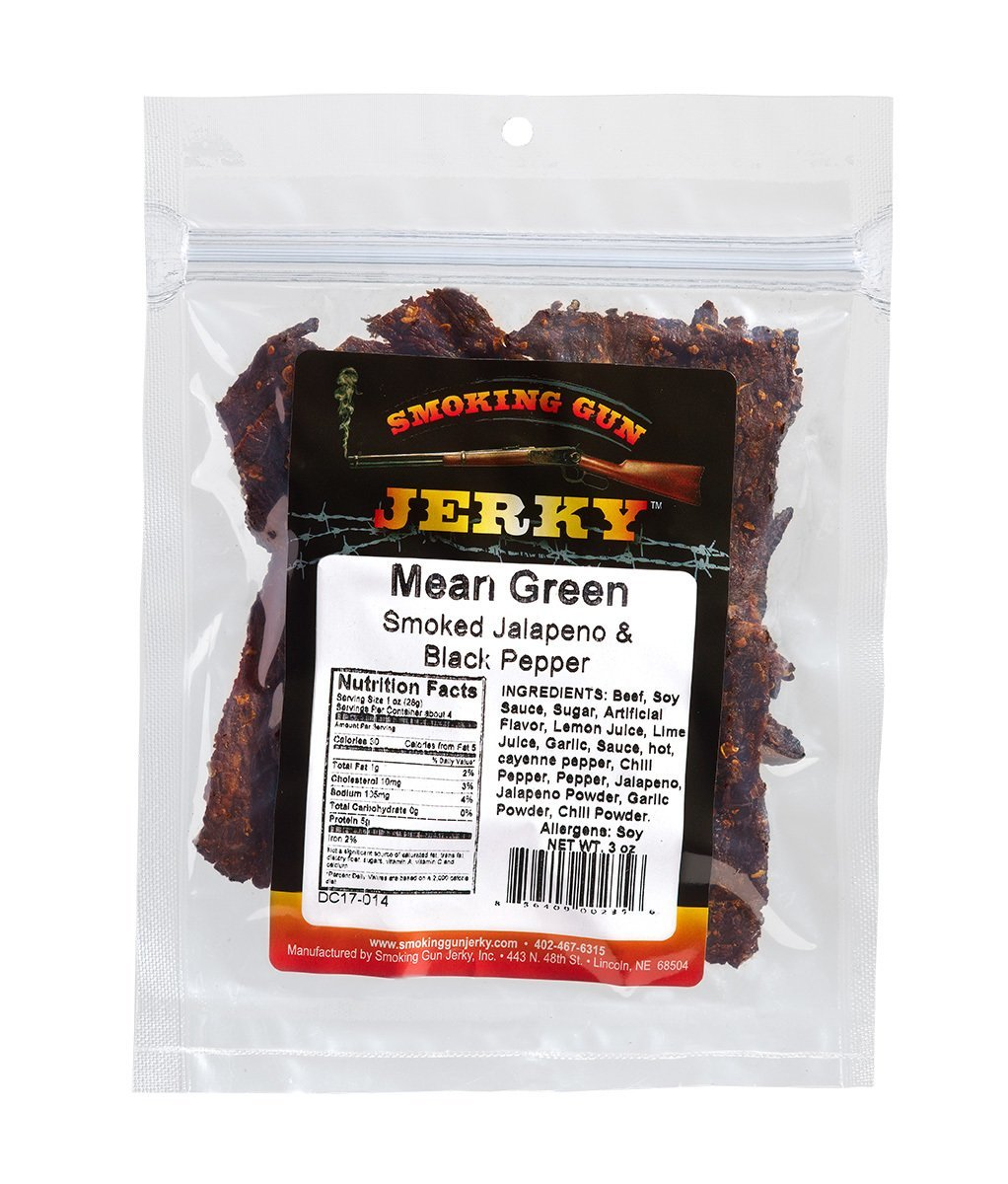 Mean Green Beef Jerky, 2.75 oz. Pkg.