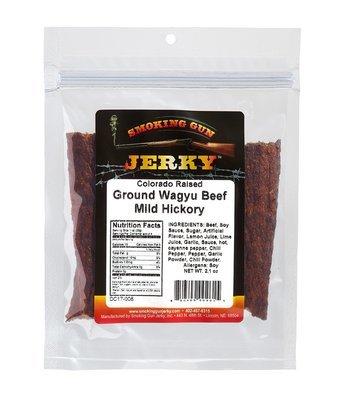 Ground Wagyu Beef - Mild Hickory Jerky, 2.1 oz. Pkg.