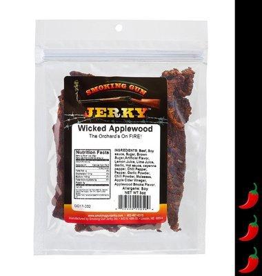 Wicked Applewood Beef  Jerky, 2.75 oz. Pkg.