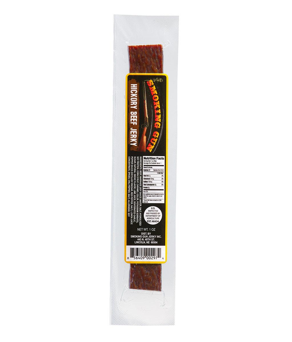 Hickory Beef Stick - ground meat, single 1oz. stick