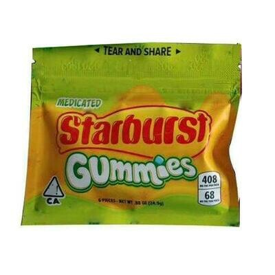 408mg THC Medicated Starburst Gummies - Green Pack