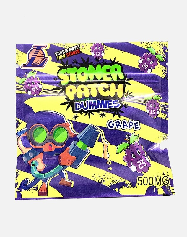 500mg THC Infused Stoner Patch Gummies - Grape