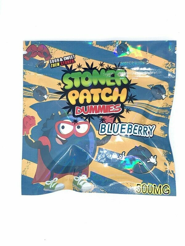 500mg THC Infused Stoner Patch Gummies - Blueberry