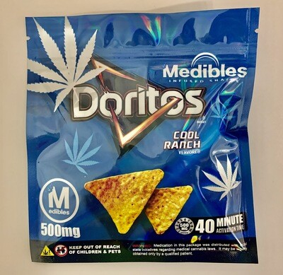 500mg THC Infused Doritos - Cool Ranch Flavour