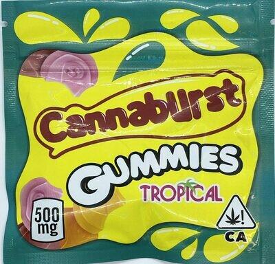 500mg THC Medicated Cannaburst Gummies Tropical - BOGO UNTIL APRIL 20th