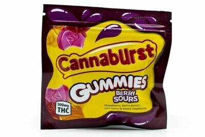 500mg THC Medicated Cannaburst Gummies Sour Berry - BOGO UNTIL APRIL 20th