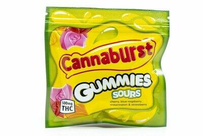 500mg THC Medicated Cannaburst Gummies Sours - BOGO UNTIL APRIL 20th