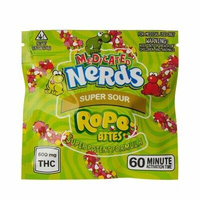 600mg THC Medicated Nerd Rope Bites Super Sour - BOGO UNTIL APRIL 20th
