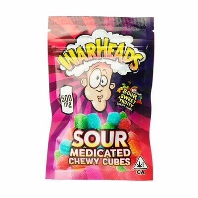 500mg THC Medicated Warheads Sour Chewy Cubes - BOGO UNTIL APRIL 20th