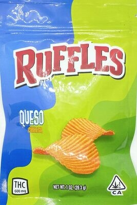 600mg THC Infused Ruffles Queso Cheese Chips