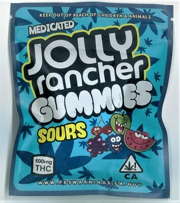 600mg THC Medicated Jolly Rancher Gummies Sours - BOGO UNTIL APRIL 20th