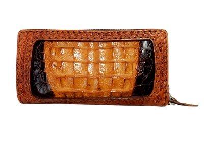 ワニ革とカービングの長財布