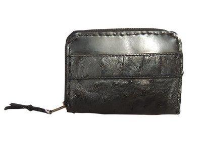 オーストリッチのコンパクトなお財布・黒