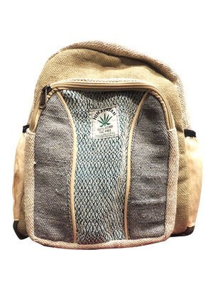Hemp backpack Nepal/麻とゲリコットンのリュック(小)