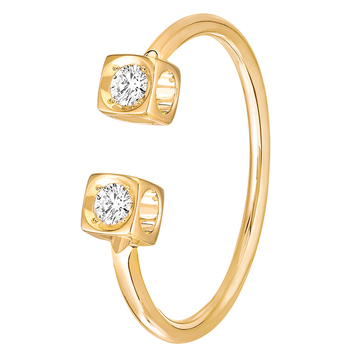 Bague Le Cube Diamant or jaune et diamants