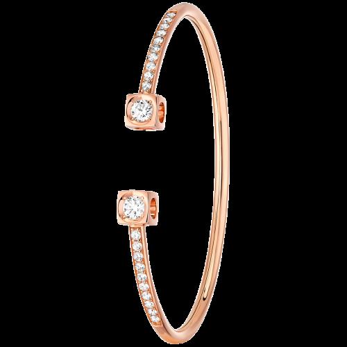 Bracelet Le Cube Diamant XL or rose et diamants