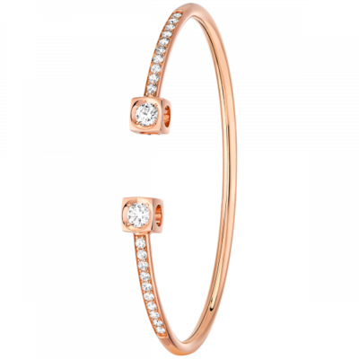 Bracelet Le Cube Diamant XL or rose et diamants