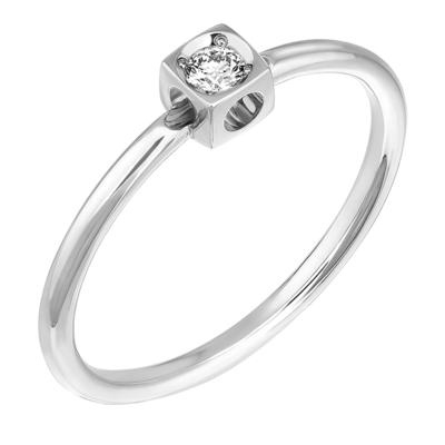 Bague Le Cube Diamant XS en or blanc