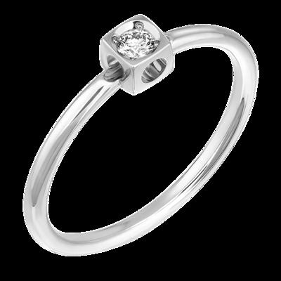 Bague Le Cube Diamant XS en or blanc