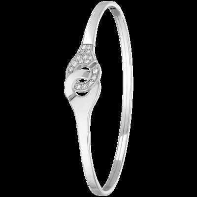 Bracelet Menottes dinh van R10 or blanc et diamants