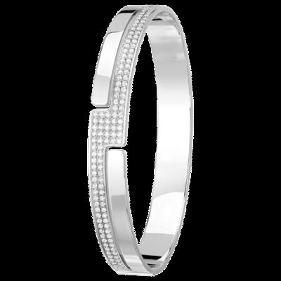 Bracelet Seventies or blanc et diamants