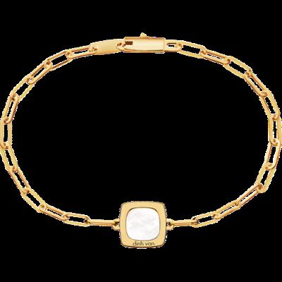 Bracelet Impression or jaune et nacre