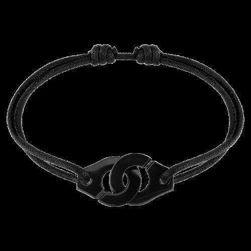 Bracelet sur Cordon Menotte dinh van R15 titane noir