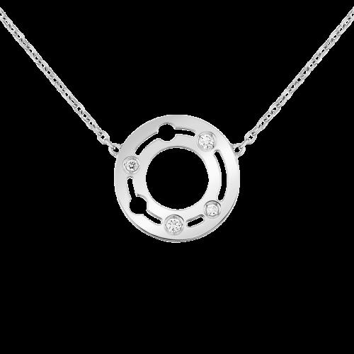 Collier Pulse dinh van PM or blanc et diamants