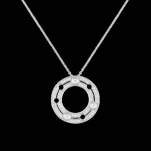 Pendentif sur chaîne Pulse dinh van or blanc et diamants